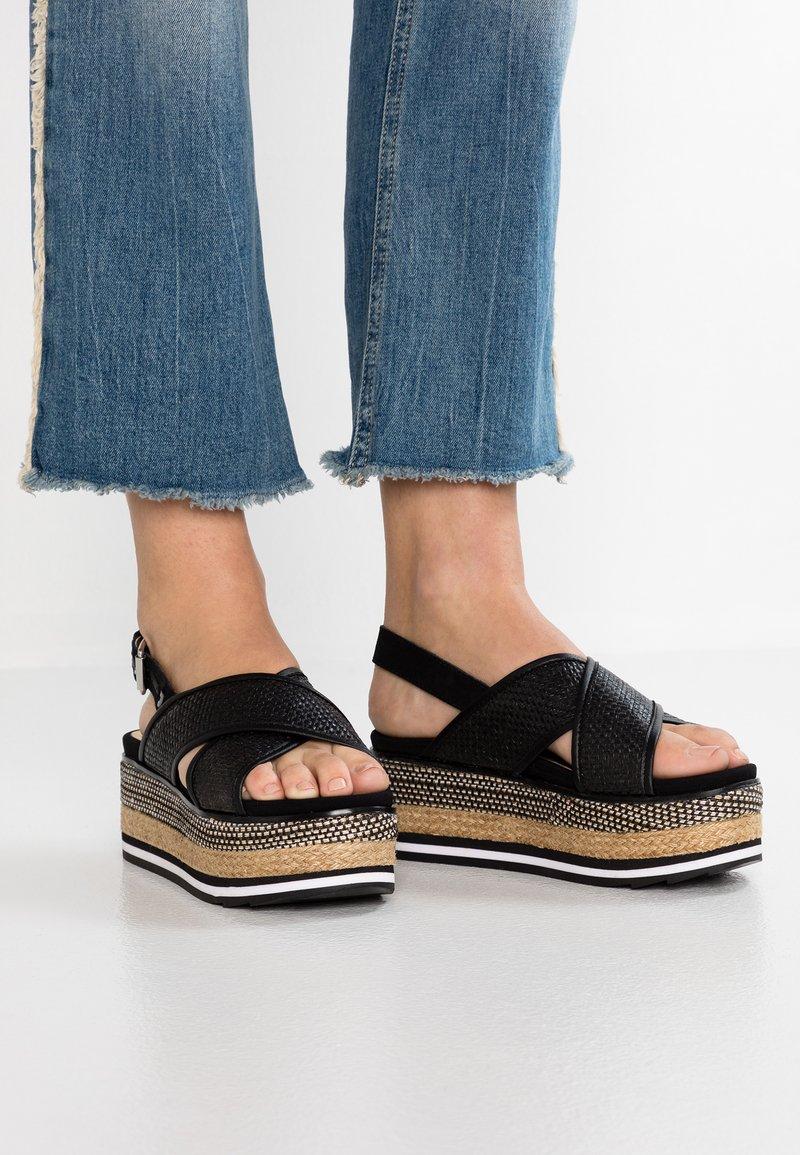 Gioseppo - CHAIDARI - Platform sandals - black