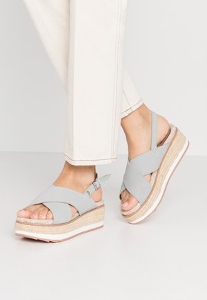 RUSSI - Korkeakorkoiset sandaalit - blue