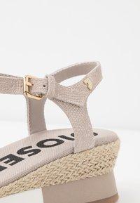 Gioseppo - SARCHI - Platform sandals - beige - 2