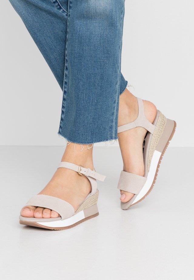SARCHI - Platform sandals - beige