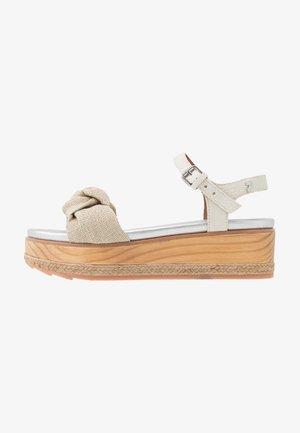 RAICHUR - Platform sandals - beige