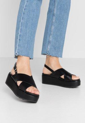 DOBSON - Sandály na platformě - black