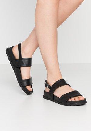 SILER - Sandaalit nilkkaremmillä - black