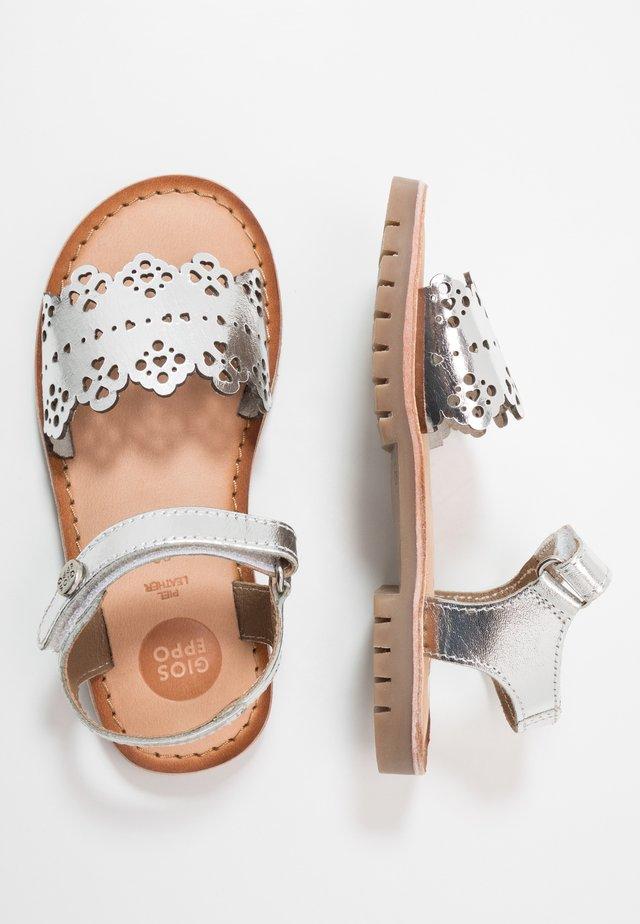 ANDRIA - Sandals - plata
