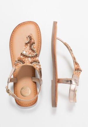 LIERDE - T-bar sandals - cooper