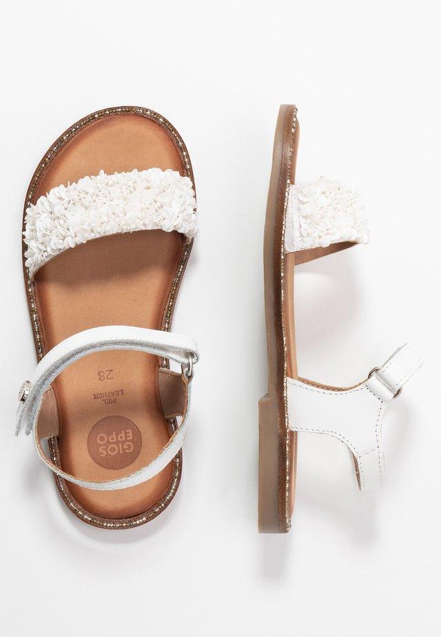 VALENCE - Sandals - blanco