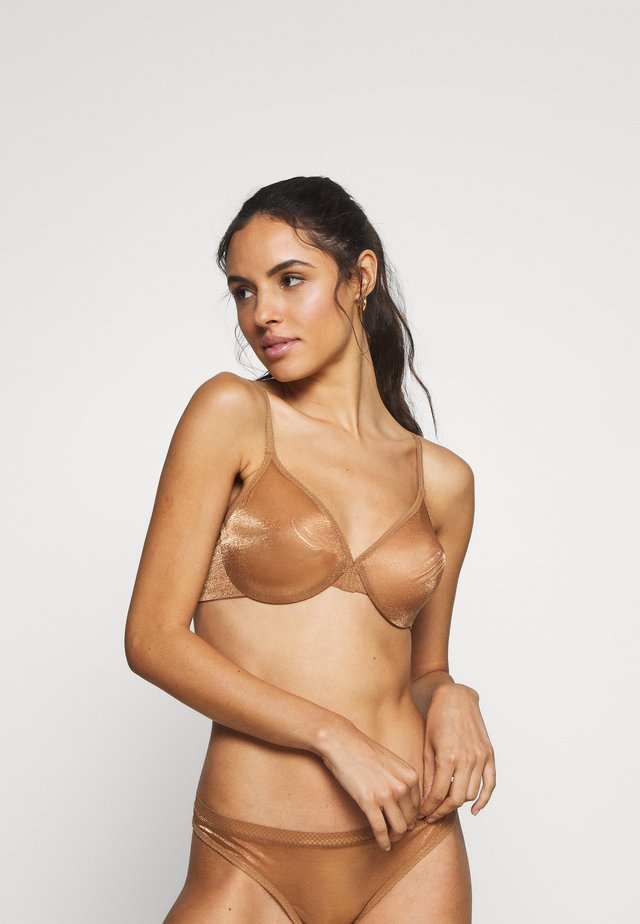 GLOSSIES BRA - Beugel BH - bronze