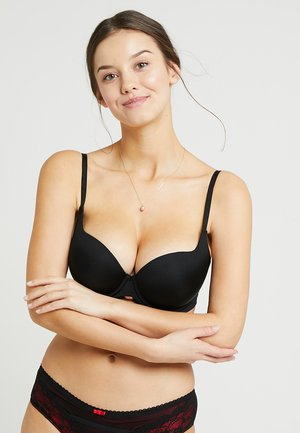 BOOST SWEETHEART PLUNGE BRA - Soutien-gorge push-up - black