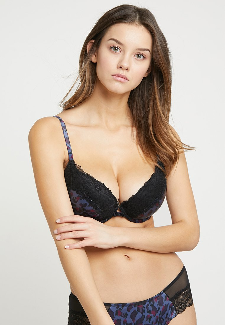 Gossard - WILD PADDED PLUNGE BRA - Soutien-gorge push-up - blue/black