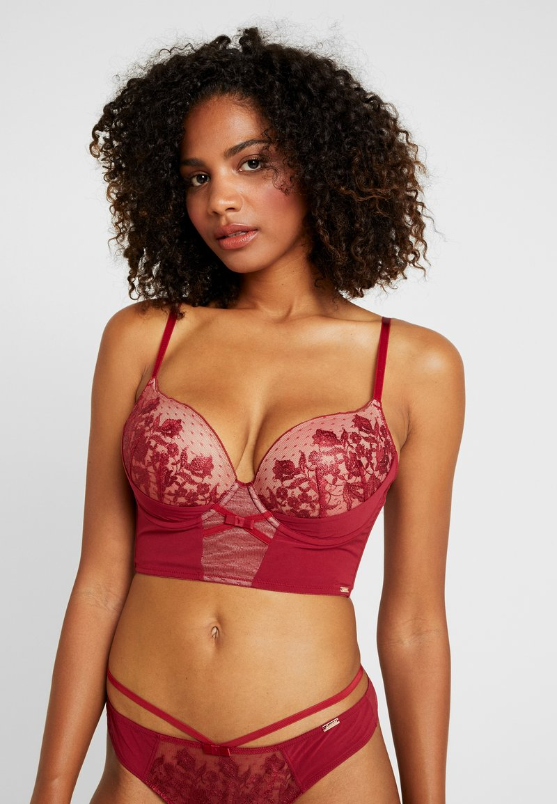 Gossard - VIP ROMANCHIC PADDED LONGLINE - Push-up bra - bordeaux