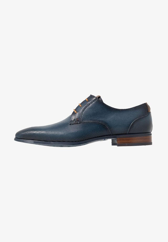 Smart lace-ups - favo navy