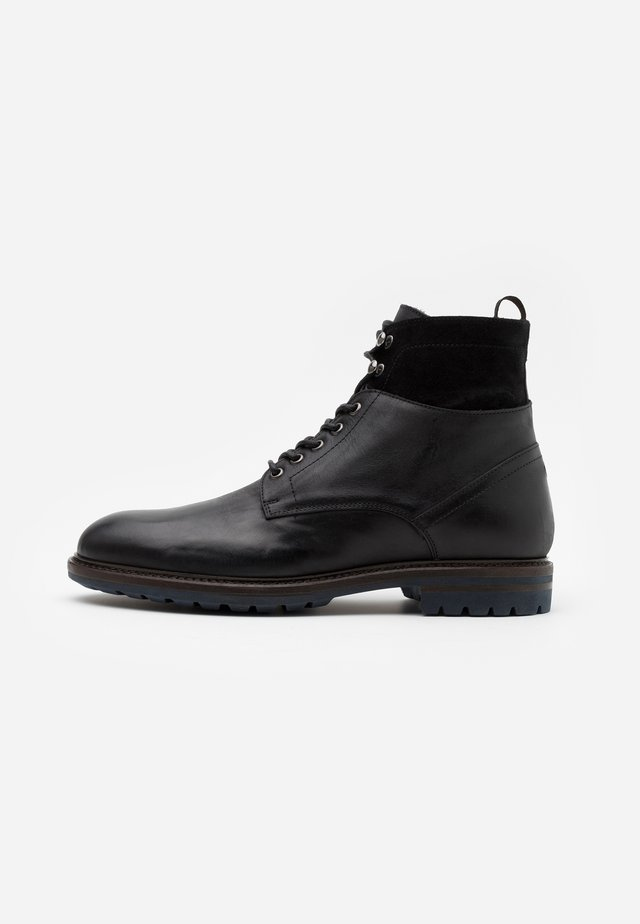Lace-up ankle boots - ohio nero/star nero