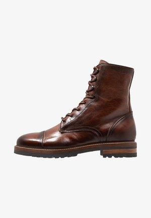 OLD - Šněrovací kotníkové boty - brown