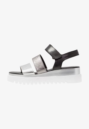 Platform sandals - silber/stone/schwarz