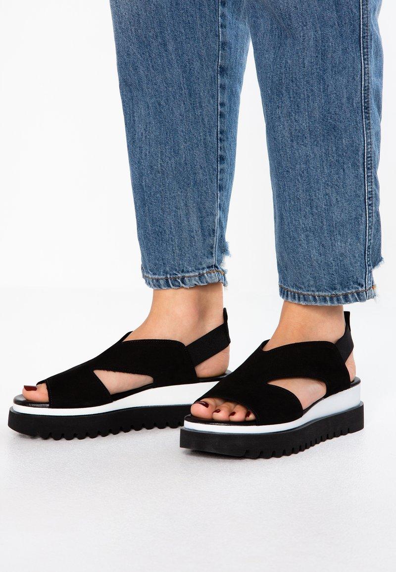 Gabor - Platform sandals - schwarz