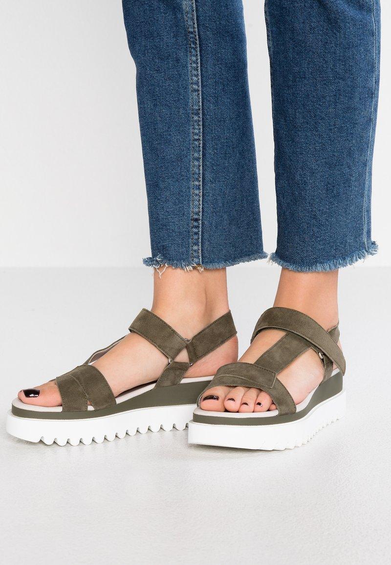 Gabor - Platform sandals - oliv
