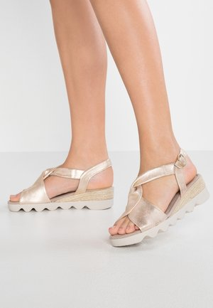 WIDE FIT - Plateausandalette - rame