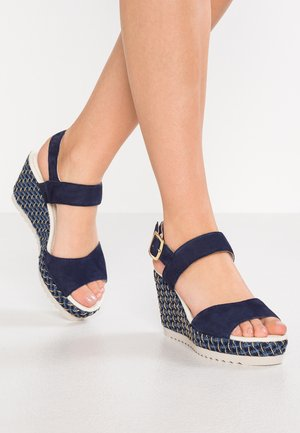 High heeled sandals - bluette