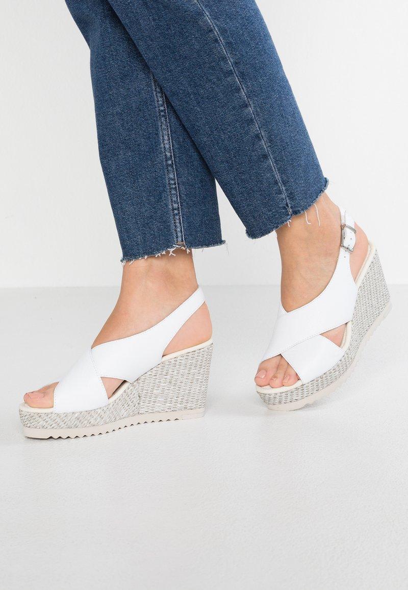 Gabor - High Heel Sandalette - weiß