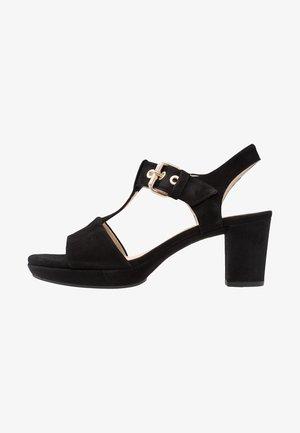 High heeled sandals - schwarz/gold