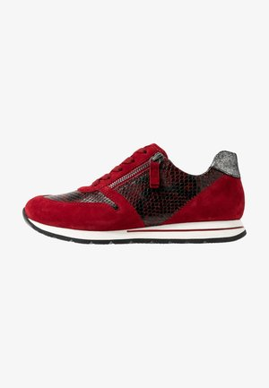 WIDE FIT - Sneakers laag - dark red/schwarz