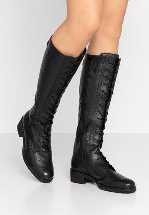 Stivali con i lacci - schwarz