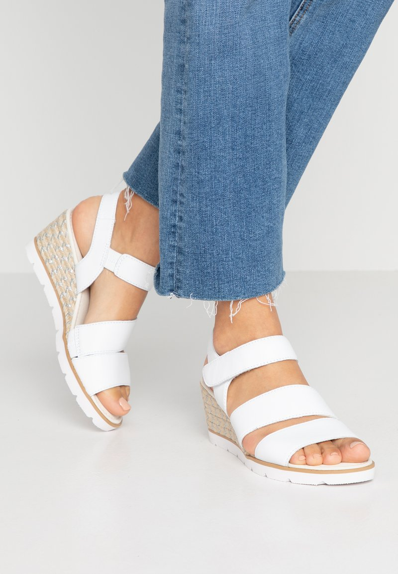 Gabor - Wedge sandals - white