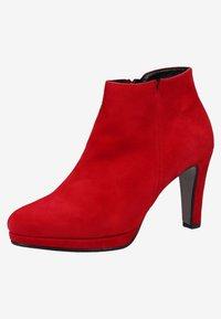 Gabor - High heeled ankle boots - rubin - 2