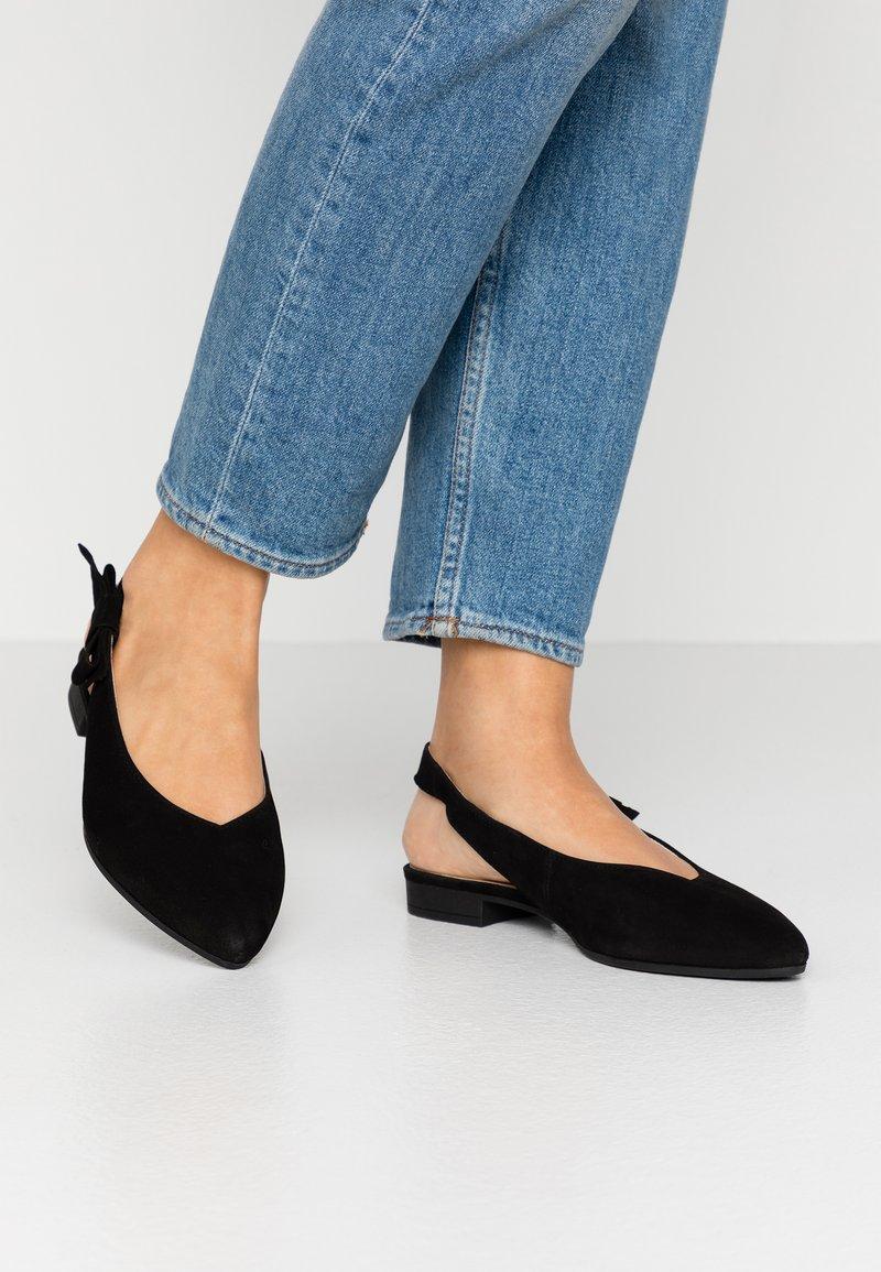 Gabor - Slingback ballet pumps - schwarz
