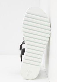 Gabor - Platform sandals - silber/stone/schwarz - 6