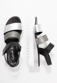 Gabor - Platform sandals - silber/stone/schwarz - 3