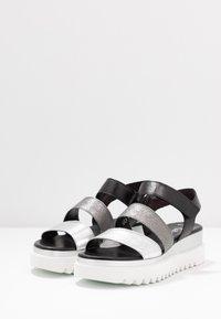 Gabor - Platform sandals - silber/stone/schwarz - 4