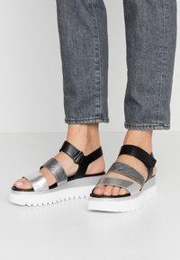 Gabor - Platform sandals - silber/stone/schwarz - 0