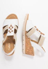Gabor - Wedge sandals - weiß/natur - 3