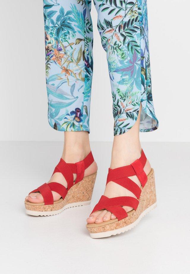 Sandalen met hoge hak - flame