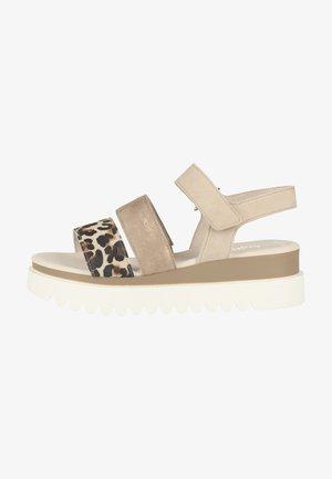 Platform sandals - vanilla/shell