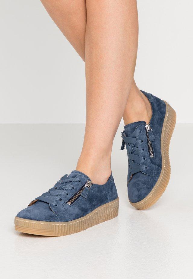Sneakersy niskie - winter blau/natur