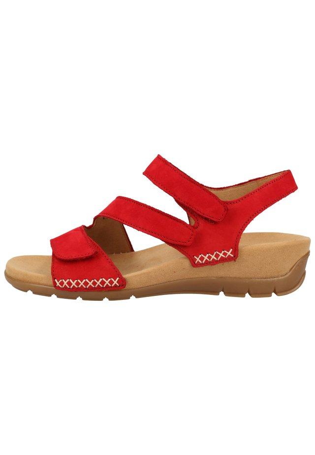 SANDALEN - Sandales compensées - rubin 35