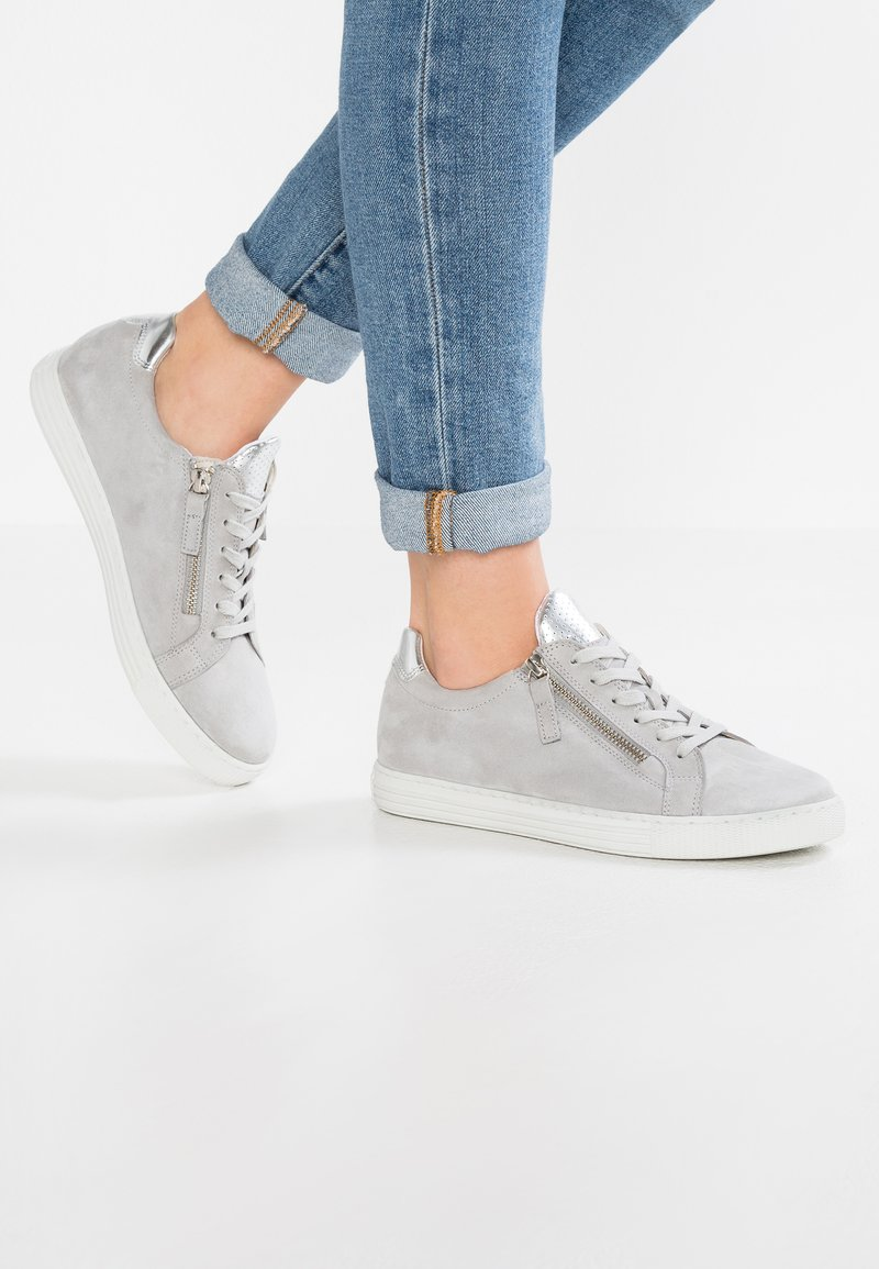 Gabor - WIDE FIT - Sneakers - light grey/argento