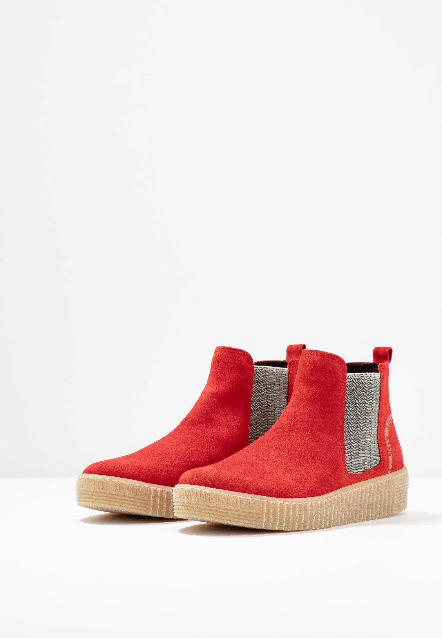 Gabor Boots à talons rot/beige/natur