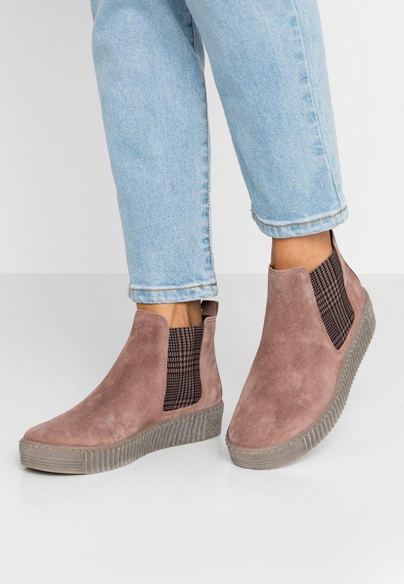 Gabor - Korte laarzen - darkrose