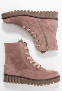 Gabor - Kotníkové boty na platformě - dark rose - 3