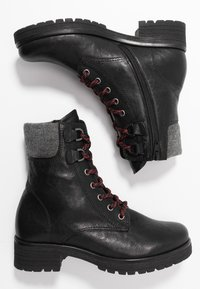 Gabor - WIDE FIT - Lace-up ankle boots - black - 3