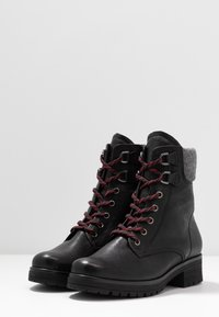 Gabor - WIDE FIT - Lace-up ankle boots - black - 4