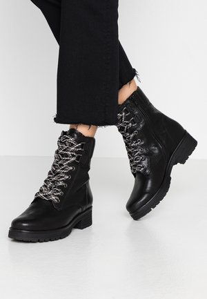 WIDE FIT - Lace-up ankle boots - schwarz