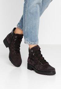 Gabor - WIDE FIT - Ankle boots - dark grey/schwarz - 0