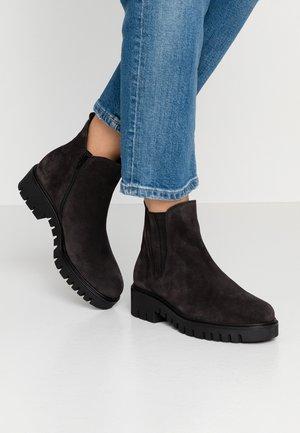 WIDE FIT - Platform ankle boots - dark grey