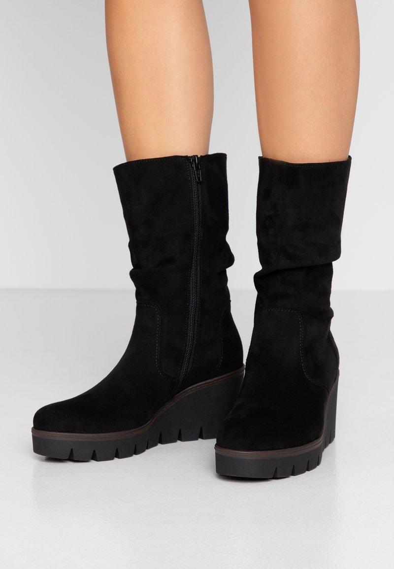 Gabor - Wedge boots - schwarz