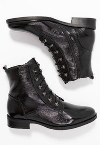 Gabor - WIDE FIT - Lace-up ankle boots - schwarz - 3