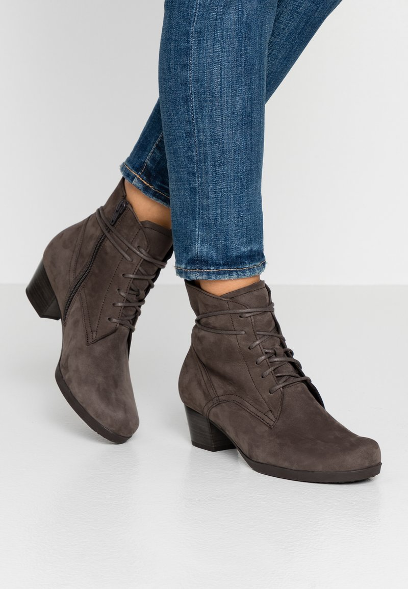 Gabor - WIDE FIT  - Lace-up ankle boots - anthrazit
